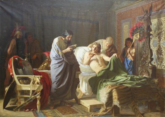 Доверие Александра Македонского к врачу Филиппу. Генрих Семирадский, XIX век.
