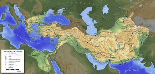 Завоевания Александра.