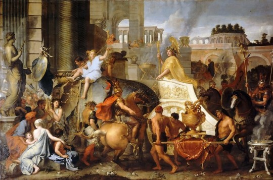 Вступление Александра в Вавилон. Шарль Лебрен, XVII век.