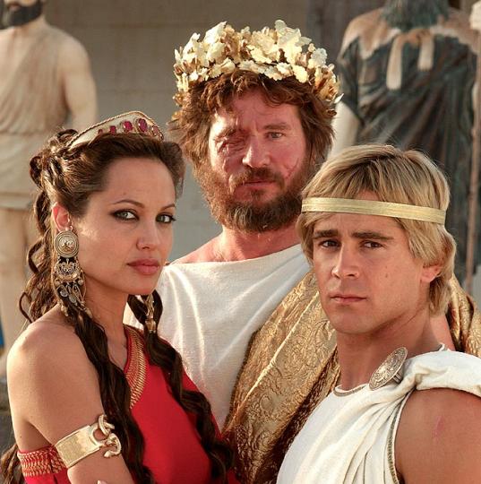 Олимпиада Эпирская, Филипп и Александр Македонские. Кадр из фильма о завоевателе.