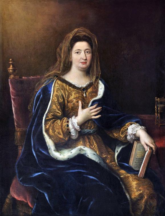 Франсуаза д'Обинье, маркиза де Ментенон, 1639 - 1719. Художник Пьер Миньяр.