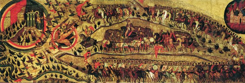 Благословенно воинство небесного царя. Икона, в память казанского похода 1552 года.