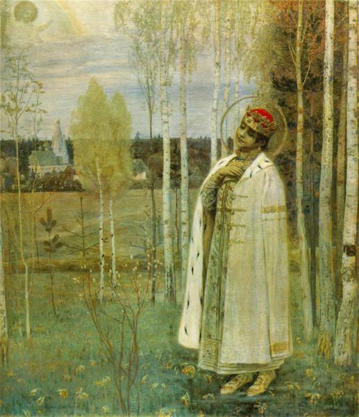 """Царевич Дмитрий"". Михаил Нестеров, 1899."
