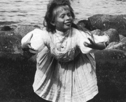 Анастасия в мимической сценке