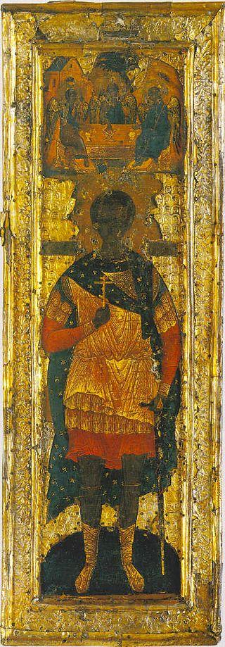 Мерная икона царевича Дмитрия. Изображение с сайта ru.wikipedia.org.
