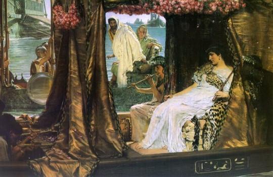 Встреча Антония и Клеопатры в 41 году до н. э. Лоуренс Альма-Тадема, 1888.