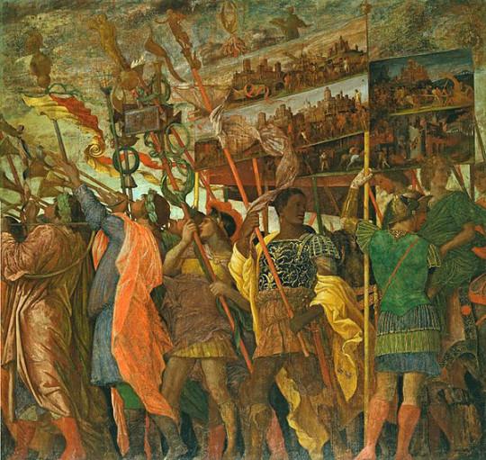 Триумф Цезаря. Андреа Мантенья, 1484-1492.