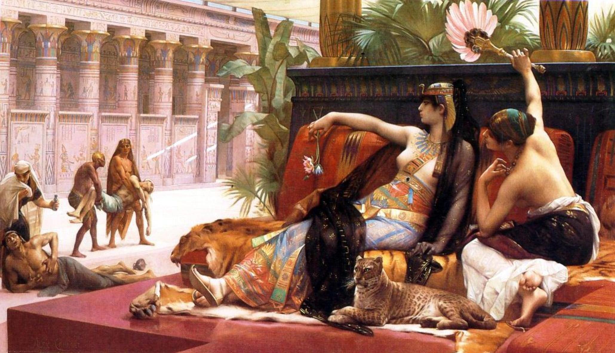 Клеопатра испытывает яд на узниках. Александр Кабанель, 1887. Много кого отравила Клеопатра за свою жизнь...
