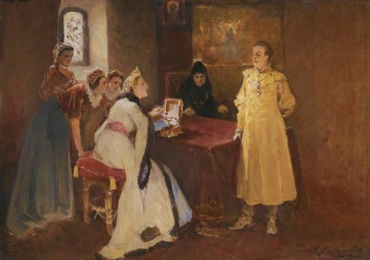 Лжедмитрий и Ксения Годунова. Изображение с сайта aminpro.ru.