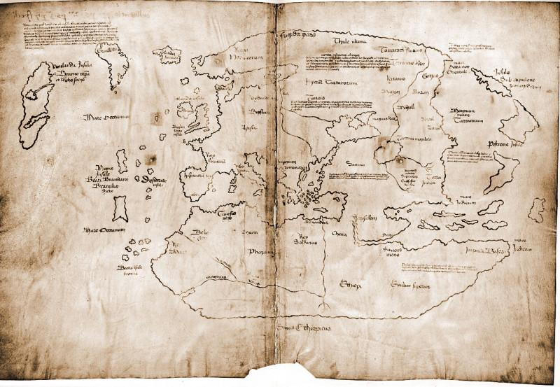 Карта Винланда - предполагаемый средневековый документ. Изображение с сайта ru.wikipedia.org.