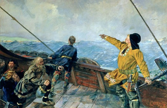 Лейф Эрикссон открывает Америку. Кристиан Крог, 1893.