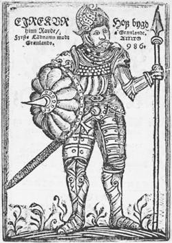 Эйрик Рыжий, изображение средневековое.