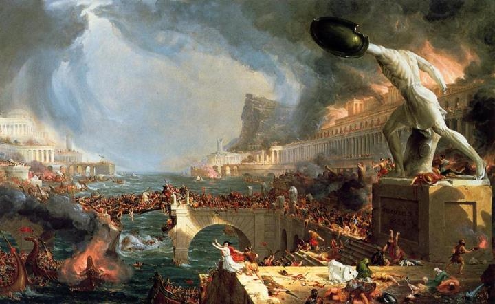 Падение Римской Империи. Томас Коле, 1841.