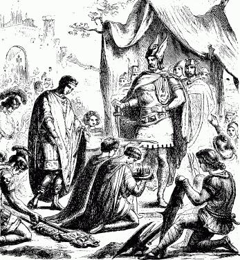 Одоакра провозглашают королем. Шарлотта Мария Йонг, 1880.