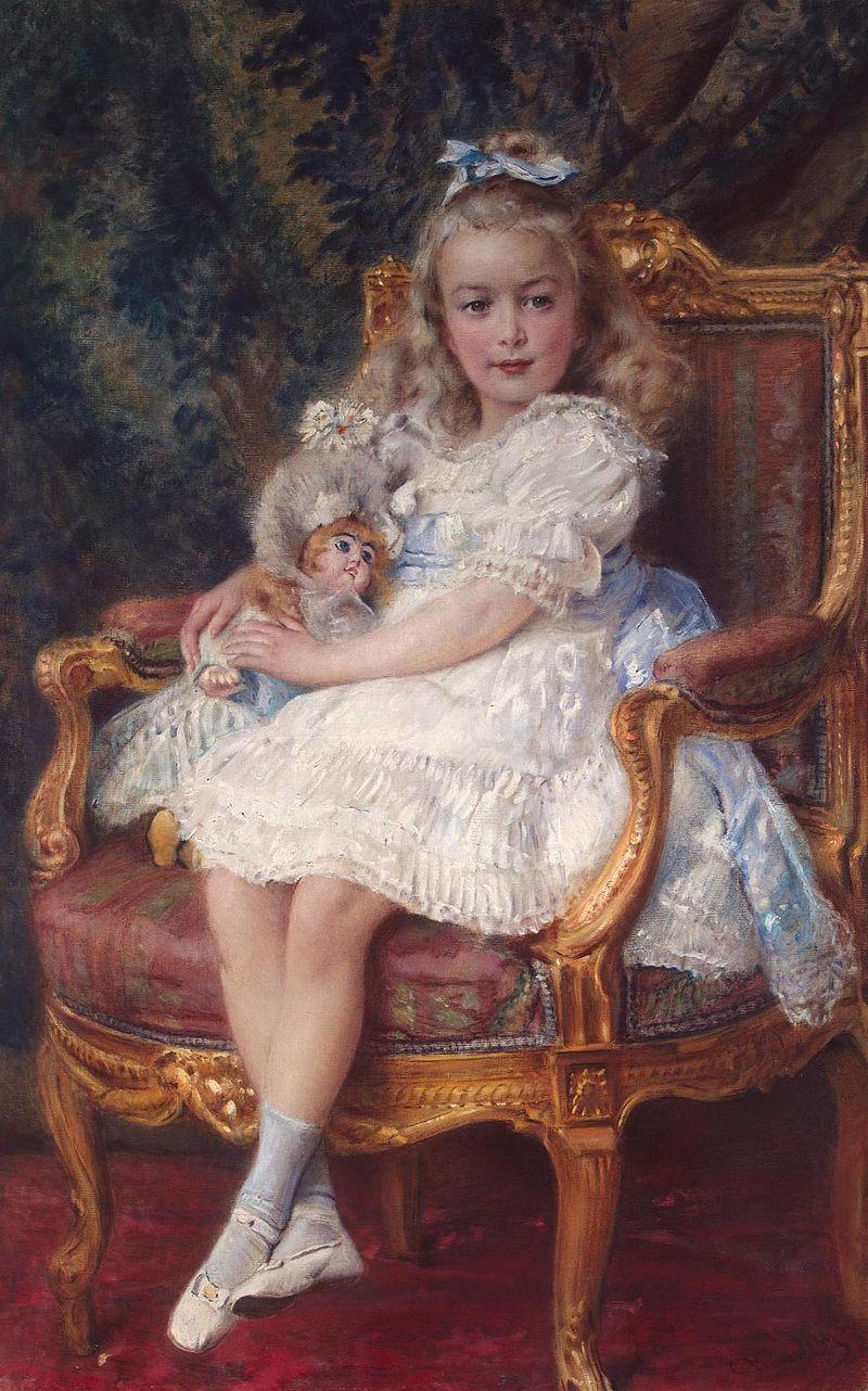 Портрет Великой княжны Марии кисти Маковского Константина Егорьевича (1905)