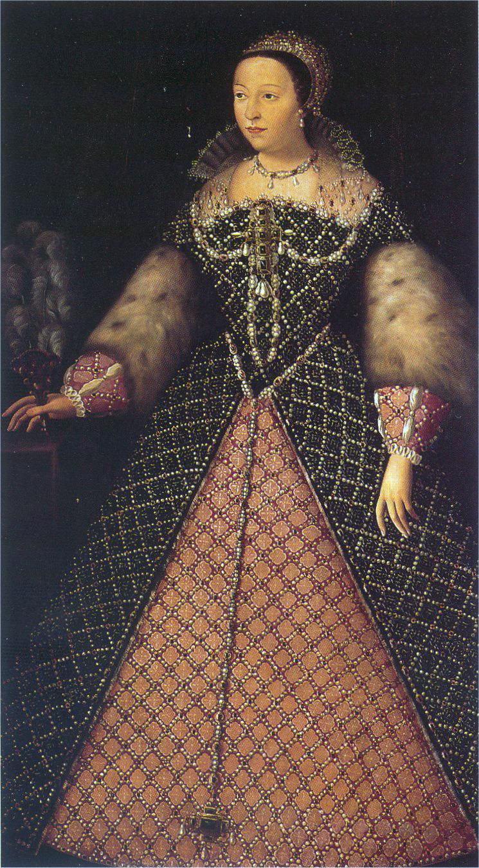 Екатерина Медичи. Неизвестный художник, между 1547 и 1559.