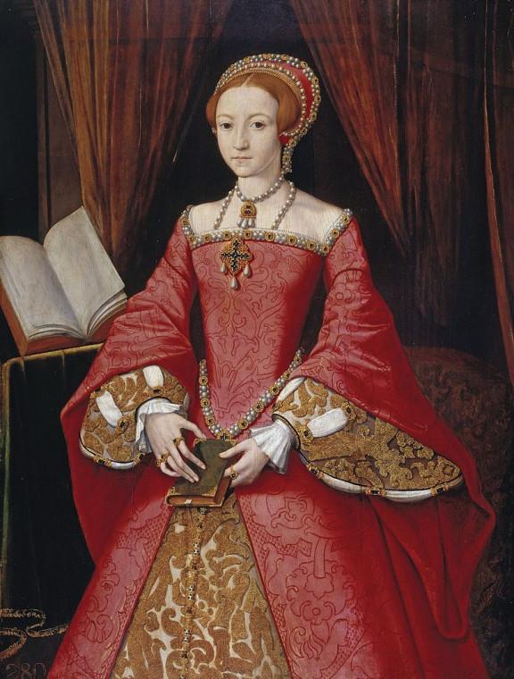Елизавета в 1546 году. Неизвестный художник. Возможно, Ганс Эворт.