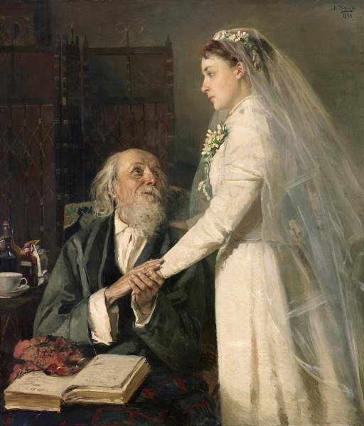К венцу (Прощание). Владимир Маковский, 1894.