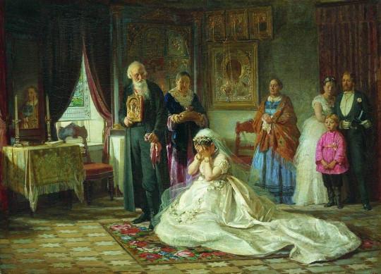Перед венцом. Фирс Журавлев, 1874. Вариант 1.