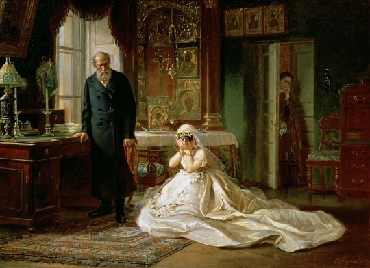 Перед венцом. Фирс Журавлев, 1874. Вариант 2.
