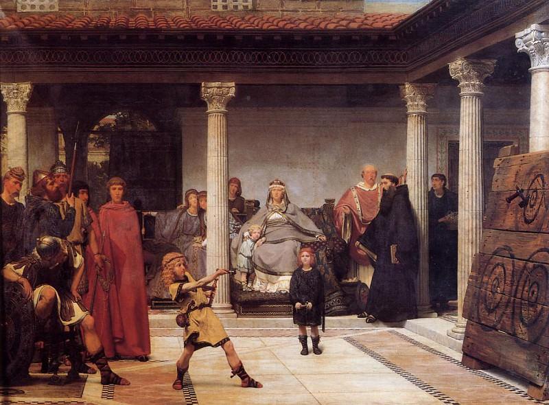 """""""Обучение детей Хлодвига"""", 1861. Наверное, самое известное """"меровингское"""" полотно Альма-Тадемы."""