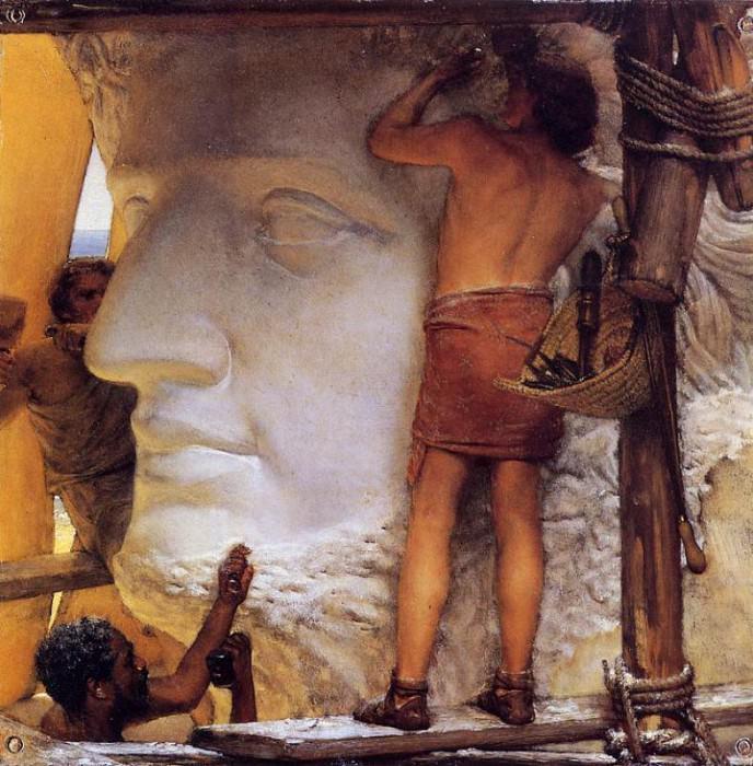 """""""Скульпторы в Древнем Риме"""". По-моему, ваяют они Нерона."""