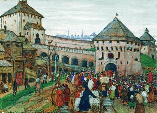 Древний город Москва. XVI век. Аполлинарий Васнецов.