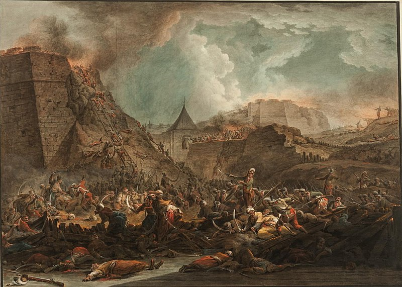 Штурм Очакова. А. Берг, 1792.
