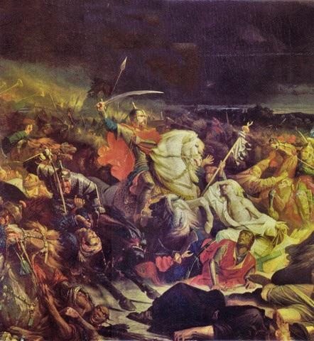 Куликовская битва. Адольф Ивон, 1859.