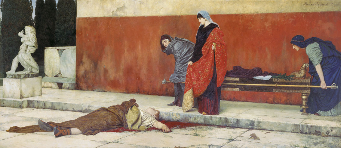 Смерть Нерона. Василий Смирнов, 1888.