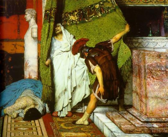 """Меня вот смущает. Подозрительная схожесть, не правда ли? Это - фрагмент картины """"Римский император"""" моего любимого Альма-Тадемы."""