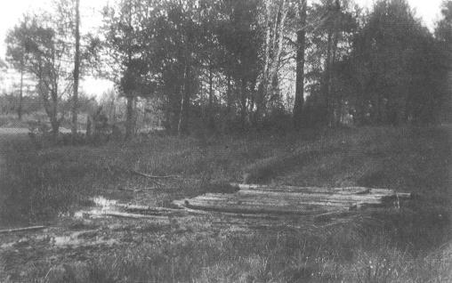 Мостик из шпал, под которым 73 года пролежали тела жертв екатеринбургского убийства.
