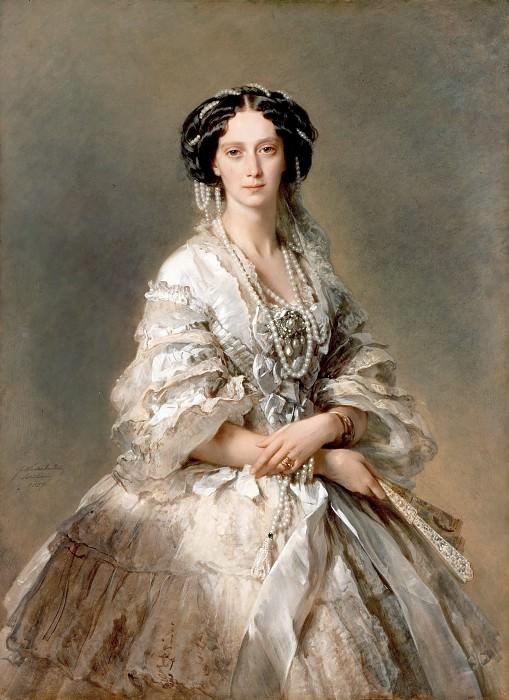 Императрица Мария Александровна, 1857. Этот ее портрет, наверное, самый известный из всех.