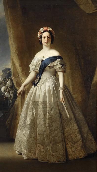 Например, вот. Портрет королевы Виктории, 1844-45. На предыдущей картине он в верхнем ряду средний.