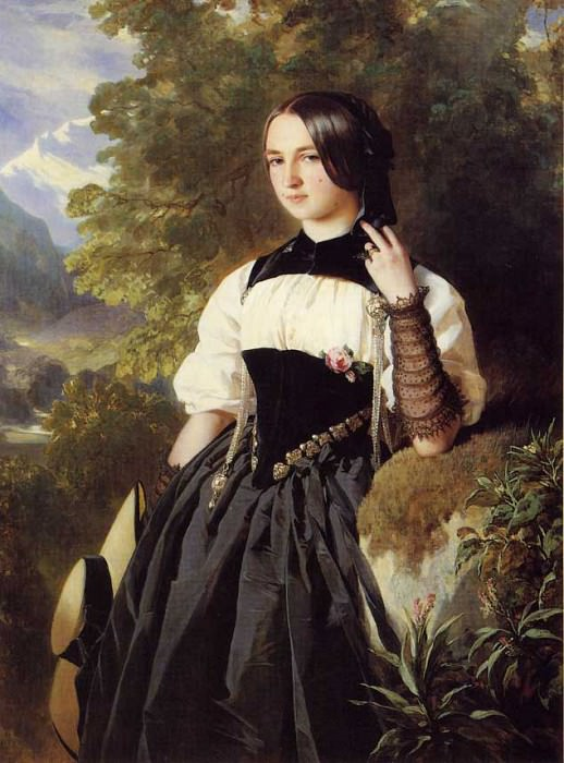 Швейцарская девушка из Интерлакена.