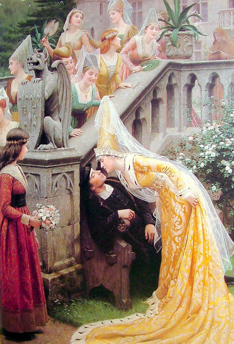 Эдмунд Блэр Лейтон, 1903. Это, конечно, не совсем про свадьбу, но поцелуи были и на свадьбе)