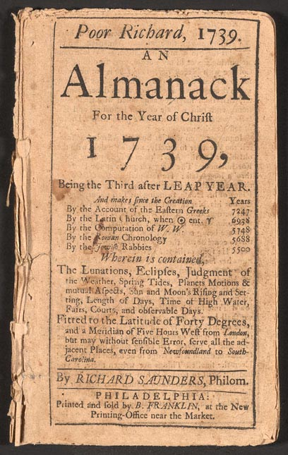 Первые альманахи появились в Европе еще в XV веке, ну а этот - экземпляр, как вы видите, первой половины XVIII столетия.