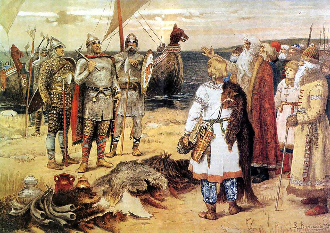 Призвание варягов. Василий Васнецов.