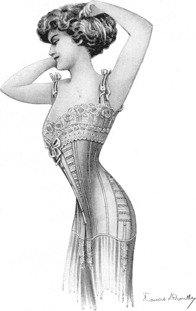Корсет из журнала Les Dessous Elegants, март 1910.