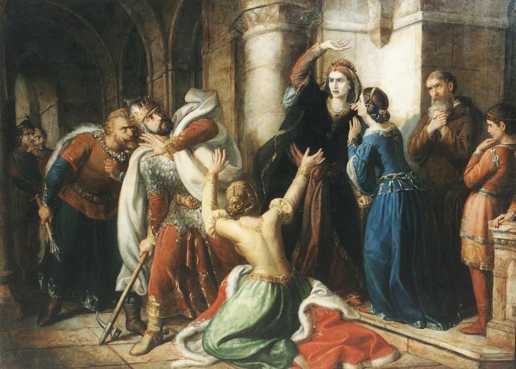 Анастасия Ярославна проклинает своего сына Шаламона, Шома Орлаи.