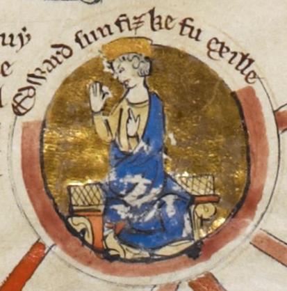 """Эдуард из """"Генеалогической хроники английских королей""""."""