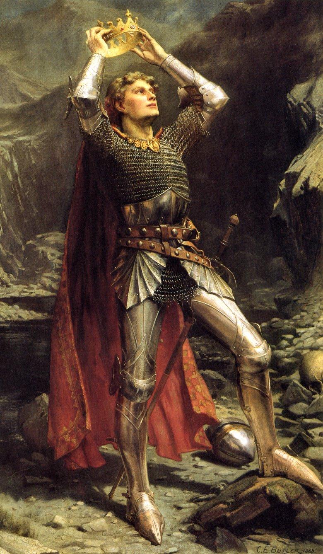 Король Артур. Картина Чарльза Эрнеста Батлера, 1903.