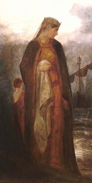 Королева Гвиневера. Картина Джеймса Арчера, 1860