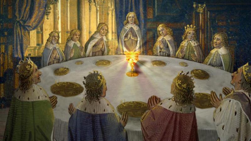 Видение Святого Грааля, явившееся рыцарям Круглого стола.