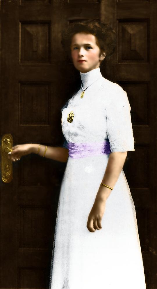 Ольга Николаевна, предположительно - в день шестнадцатилетия.