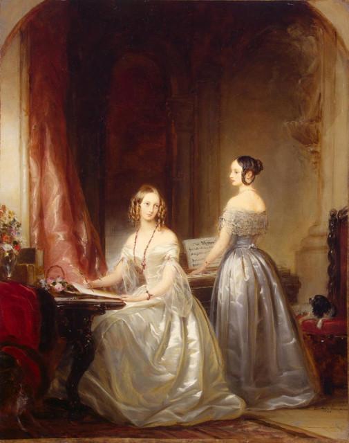 Александра Николаевна со старшей сестрой Ольгой