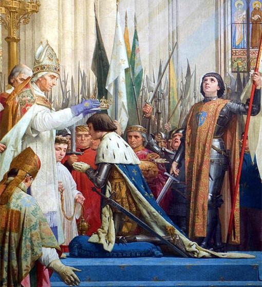 Коронация дофина Карла. Фрагмент росписи в Пантеоне (Париж).