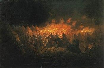 """""""Ночная Атака"""". Теодор Аман, XIX век."""