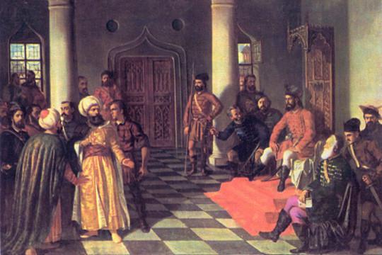 Влад Дракула и побеждённые турки. Теодор Аман, 1861 - 1864.