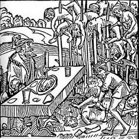 Слегка карикатурное изображение Влада в памфлете 1499 года.